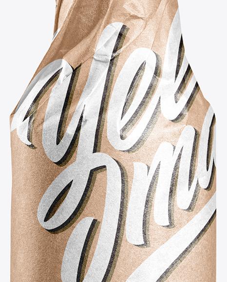 Beer Bottle in Kraft Paper Wrap