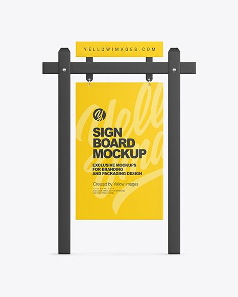 Real Estate Sign Board Mockup