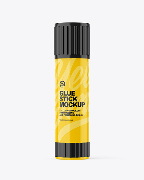 Glossy Plastic Glue Stick Mockup
