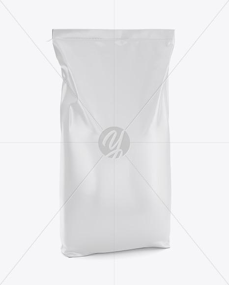 Plastic Bag 3D Mockup - Halfside View