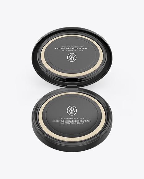 Cosmetic Compact Powder Mockup