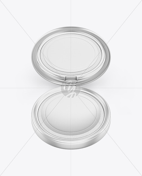Metallic Cosmetic Powder Mockup