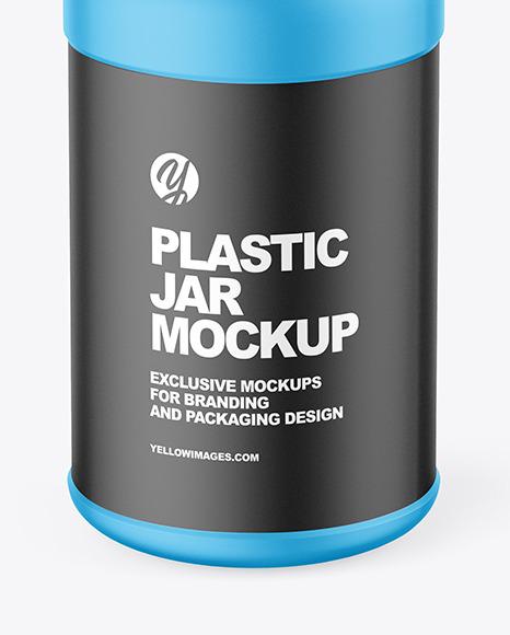 Matte Plastic Jar Mockup