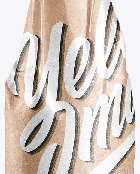 Beer Bottle Wrapped in Kraft Papper