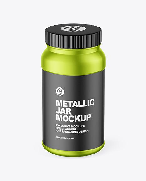 Matte Metallic Jar Mockup