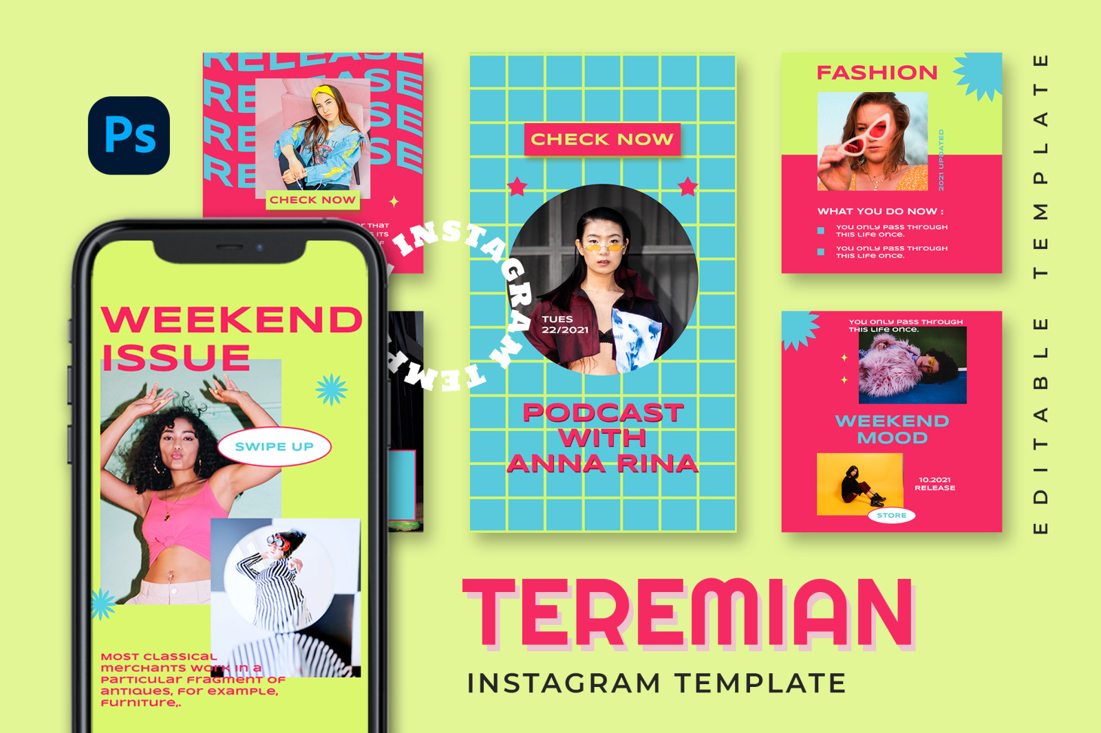 Teremian Instagram Template