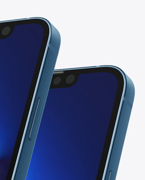 iPhone 13 and iPhone 13 Mini Mockup