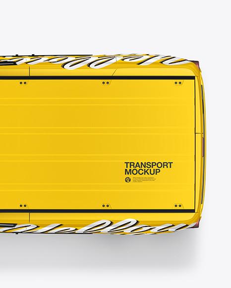 Panel Van Mockup - Top View