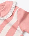 Baby Girl Ruffle Collar Jumper Mockup