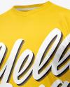 T-Shirt with V-neck Mockup - Half Side View