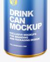 150ml Metallic Drink Can w/ Matte Finish Mockup