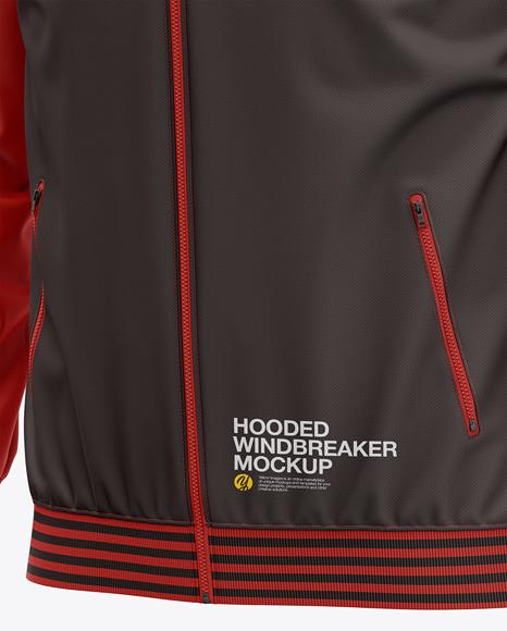 Hooded Windbreaker Mockup