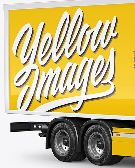 Box Truck Mockup - Half Side View
