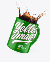 Glossy Mug w/ Coffee Splash Mockup