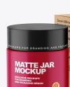 Matte Cosmetic Jar with Kraft Paper Box Mockup