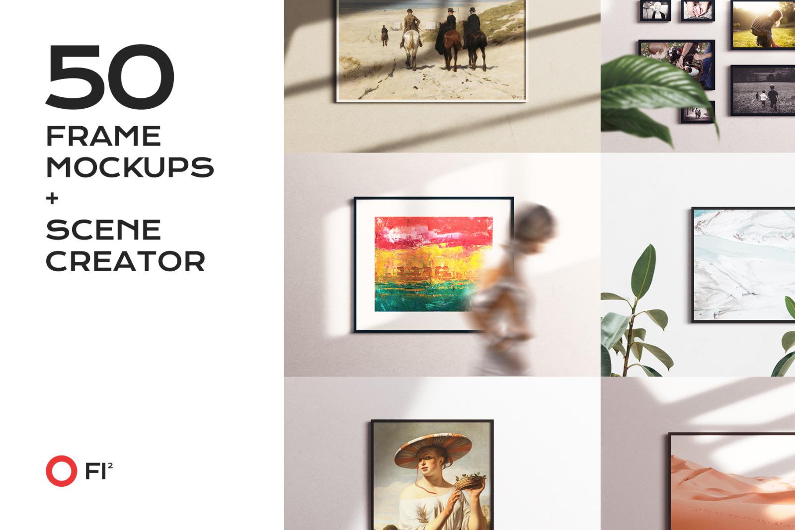 50 frame mockup bundle creator kit