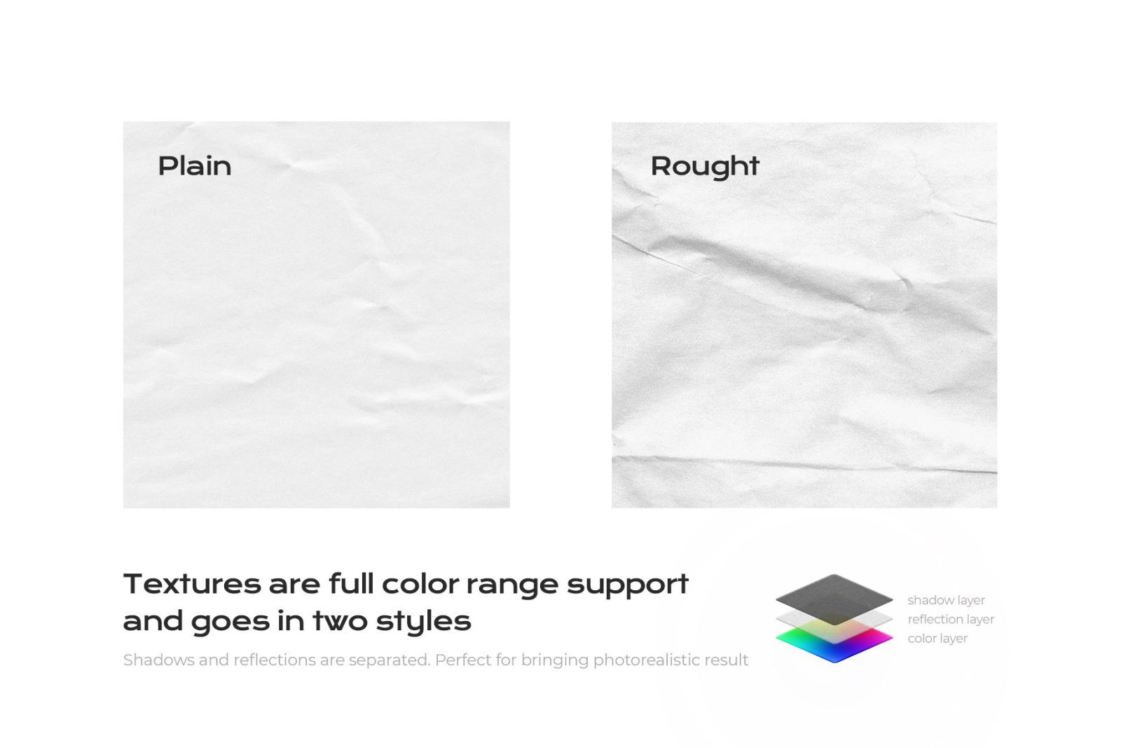 Wrinkle Paper Mockup Branding Bundle