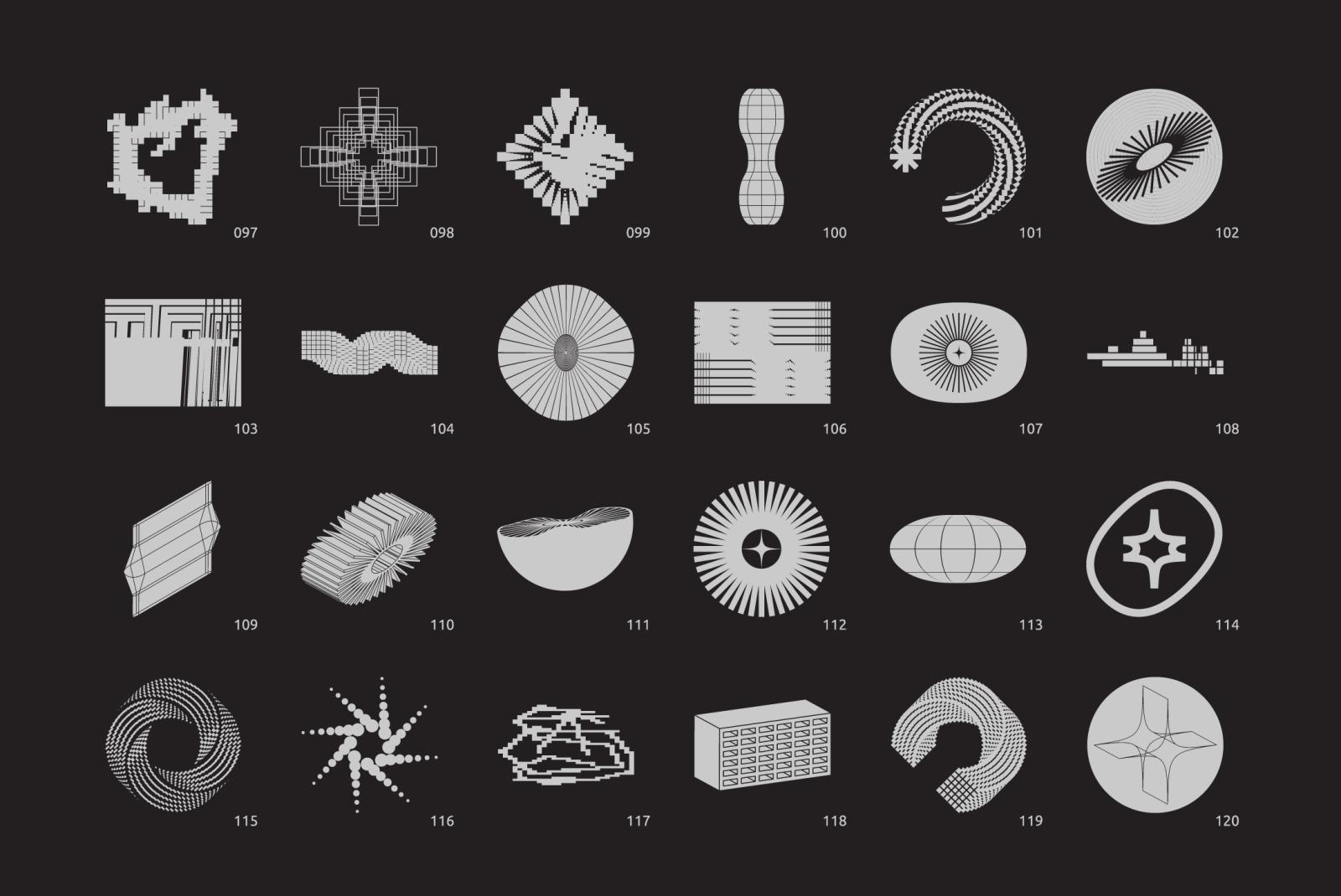 Brutalism. Vector Shapes