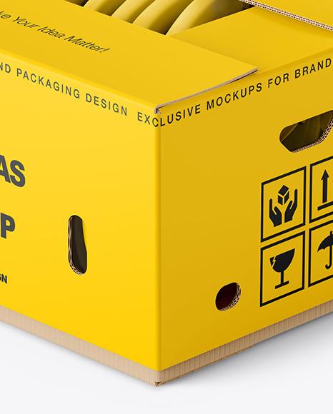 Box with Bananas Mockup