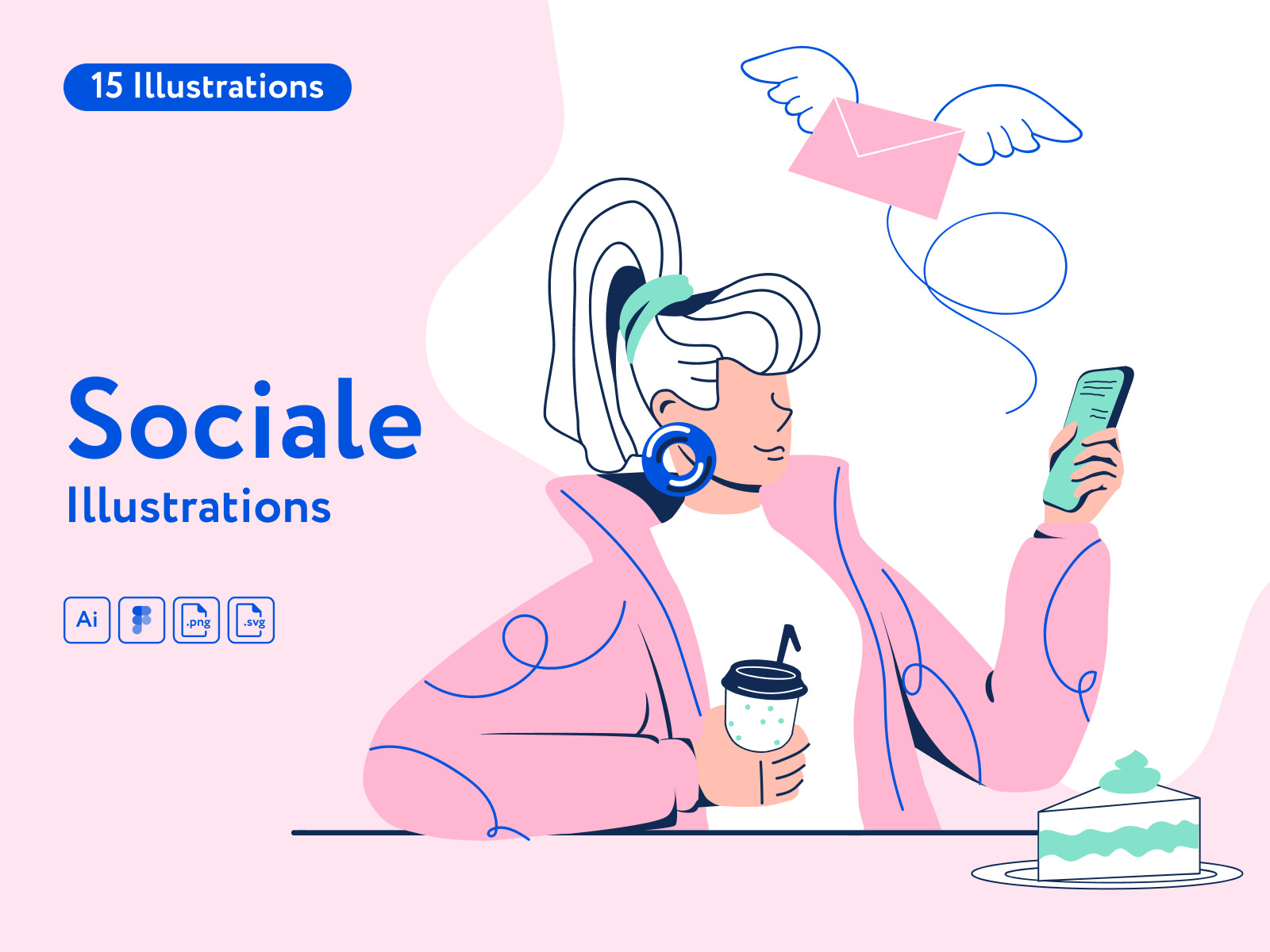 Sociale Illustrations