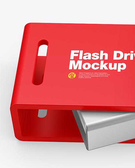 USB Type C Flash Drive Mockup