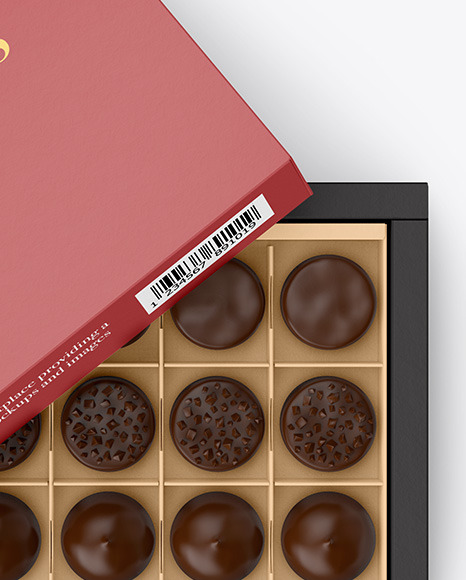 Box of Chocolates Mockup