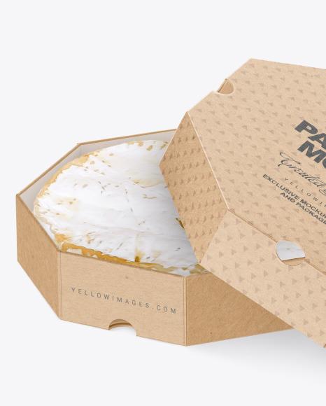 Cheese Kraft Box Mockup