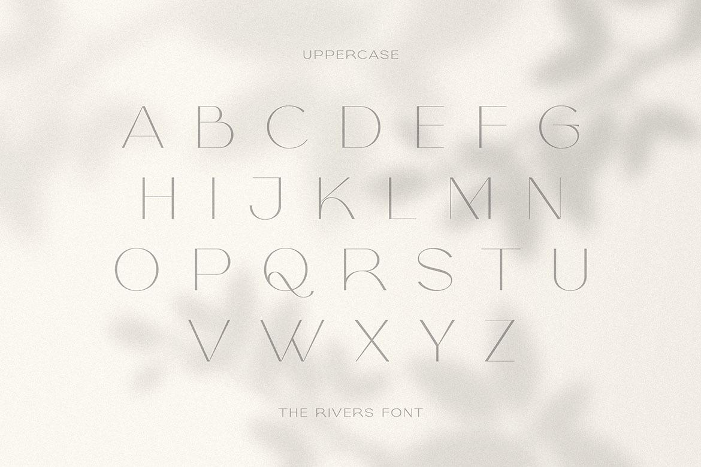 The Rivers - Modern Sans Font