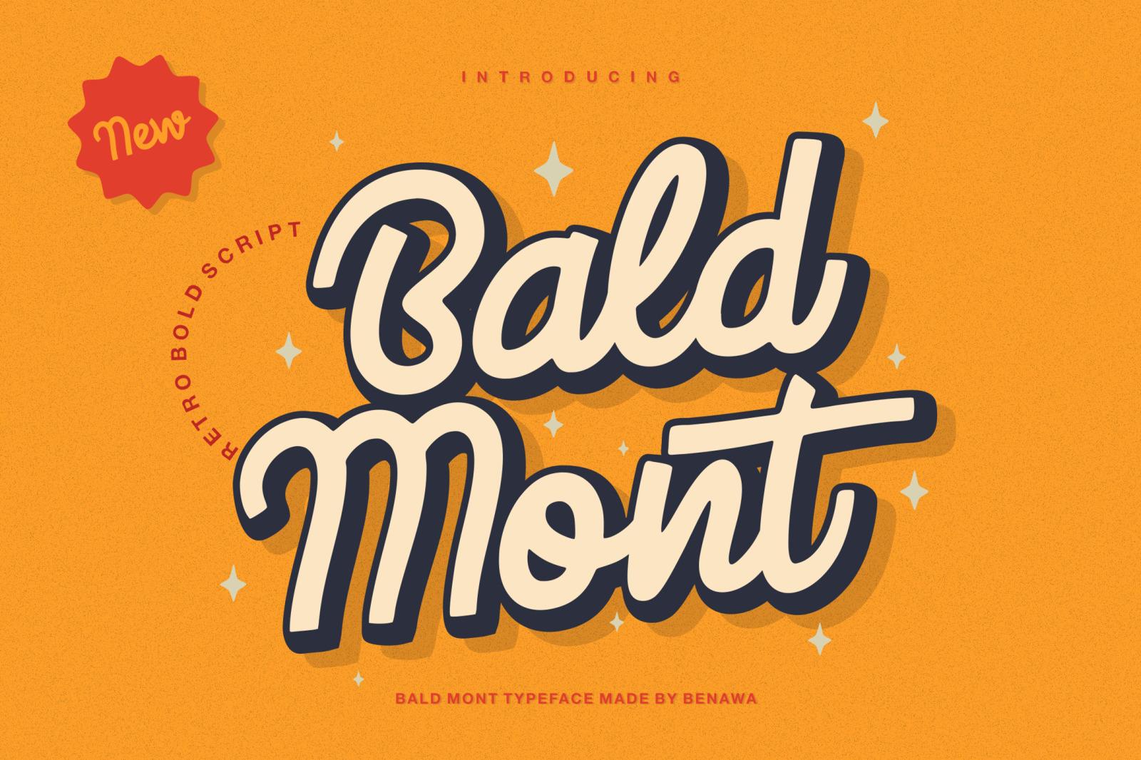 Bald Mont - Retro Bold Script