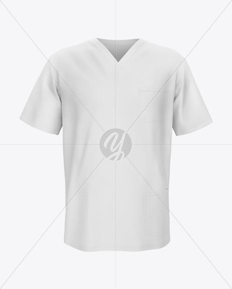 Men's Medical Shirt Mockup - Front View