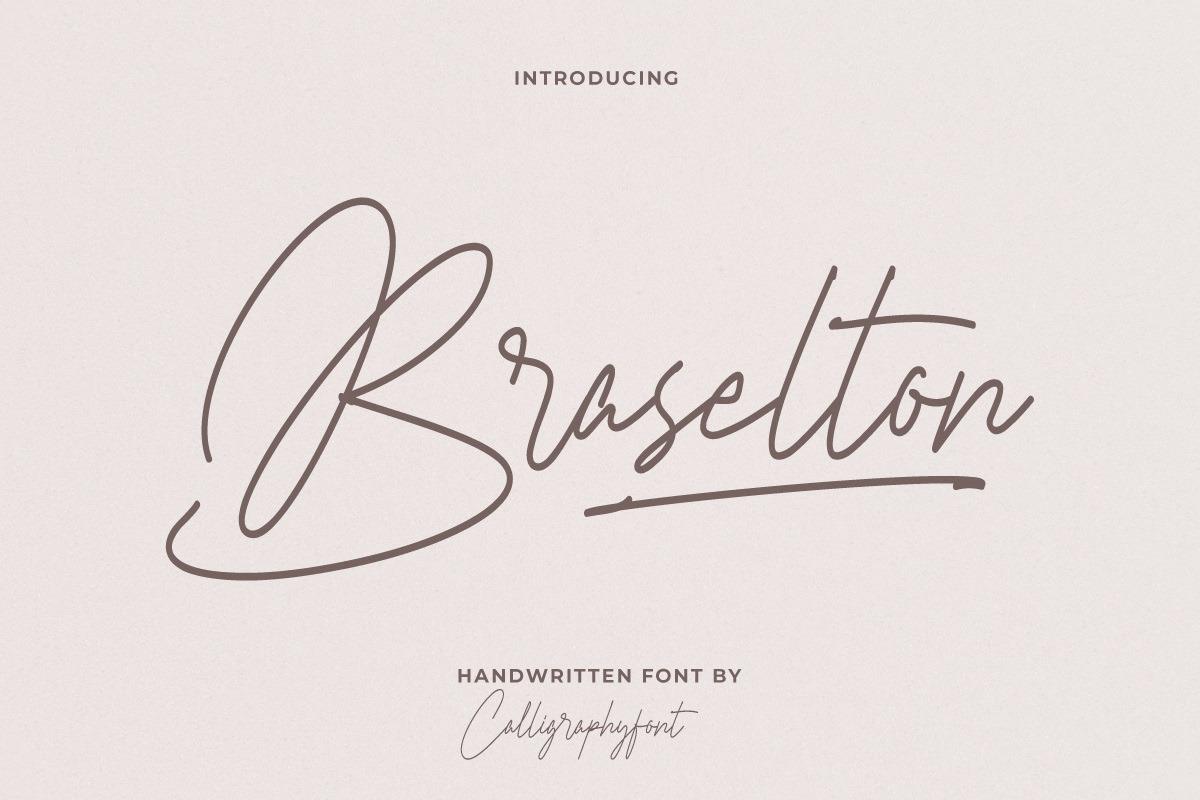 Braselton Monoline Font