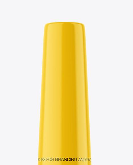 Glossy Plastic Eyeliner Tube Mockup
