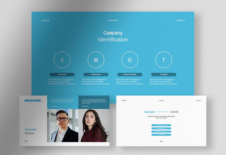 Revoiz - Clear Sky Modern Company Profile Presentation