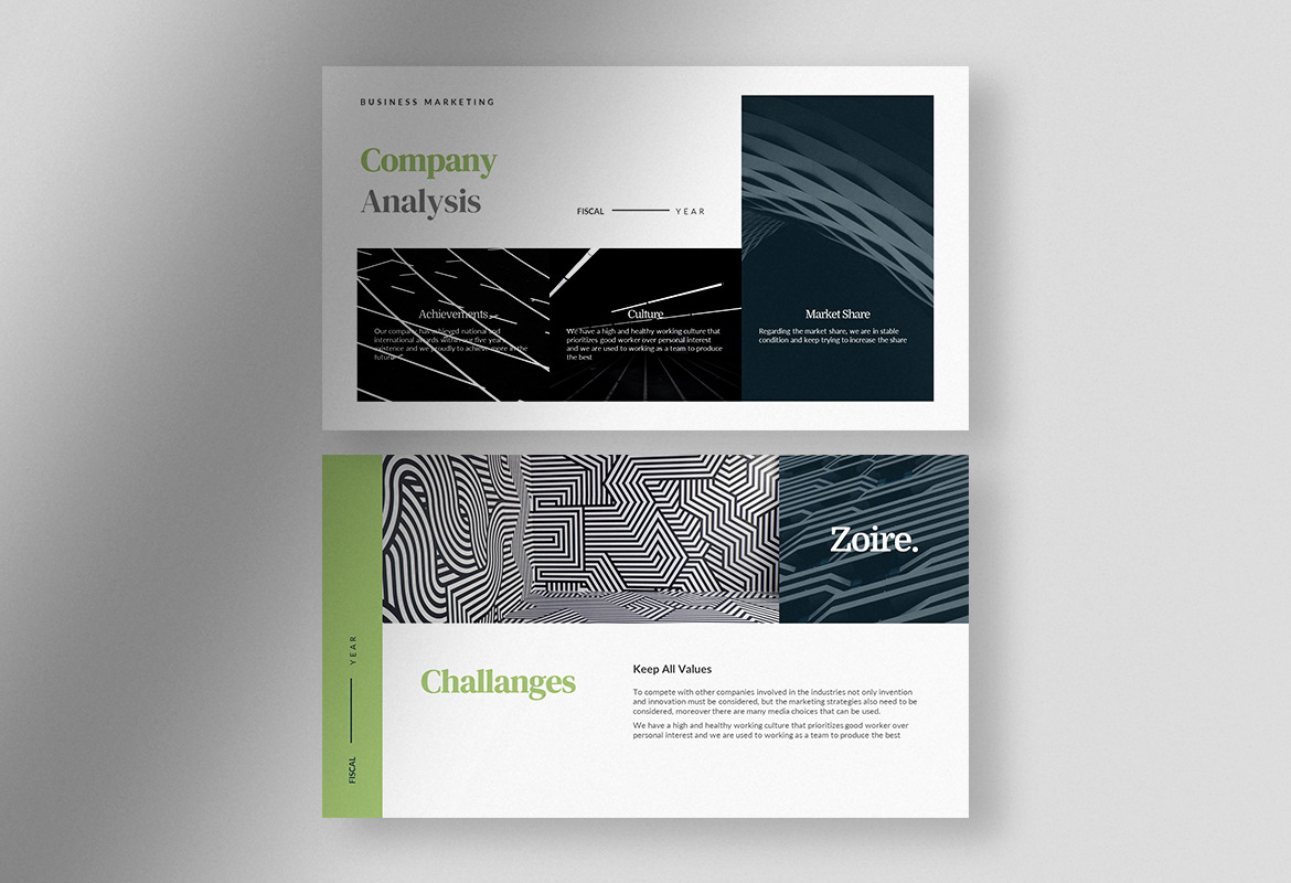 Zoire - Teal Architectural Marketing Strategy Presentation Template