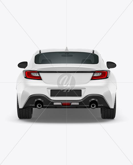 Sport Car Mockup - Back View