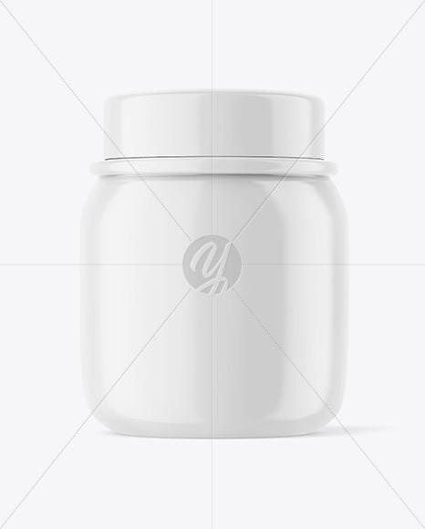 Glossy Honey Jar Mockup