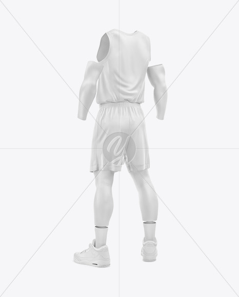 Basketball Kit Mockup – Half Side View