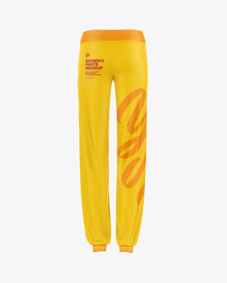 Women's Pants Mockup - Back View