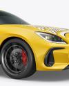 Sport Car Mockup - Half Side View