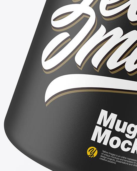Matte Mug w/ Coffee Splash Mockup