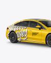 Electric Luxury Car Mockup - Half Side View