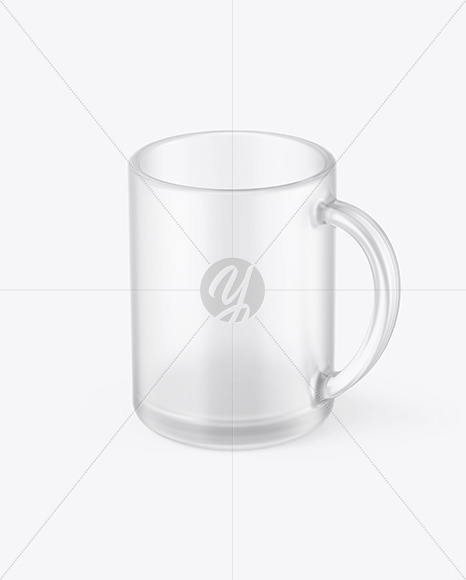 Frosted Glass Mug Mockup