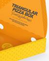 Paper Triangular Box with Pizza Mockup
