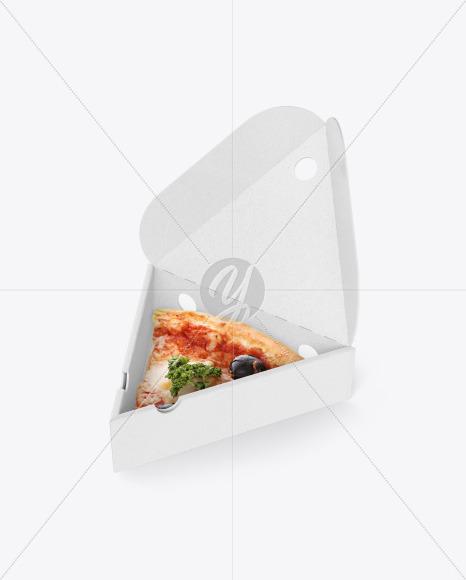Kraft Triangular Box with Pizza Mockup