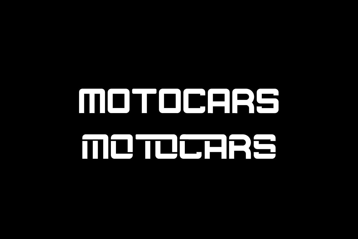 Motocars Family Display Font