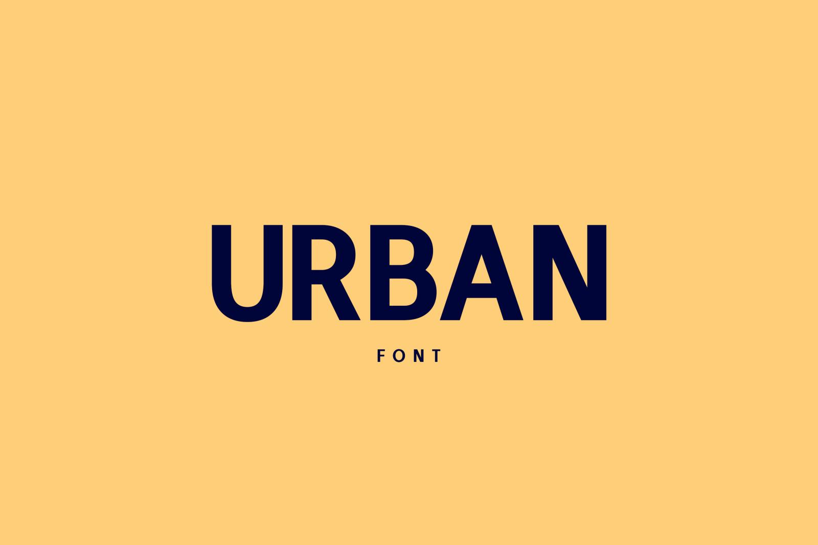 Urban Font