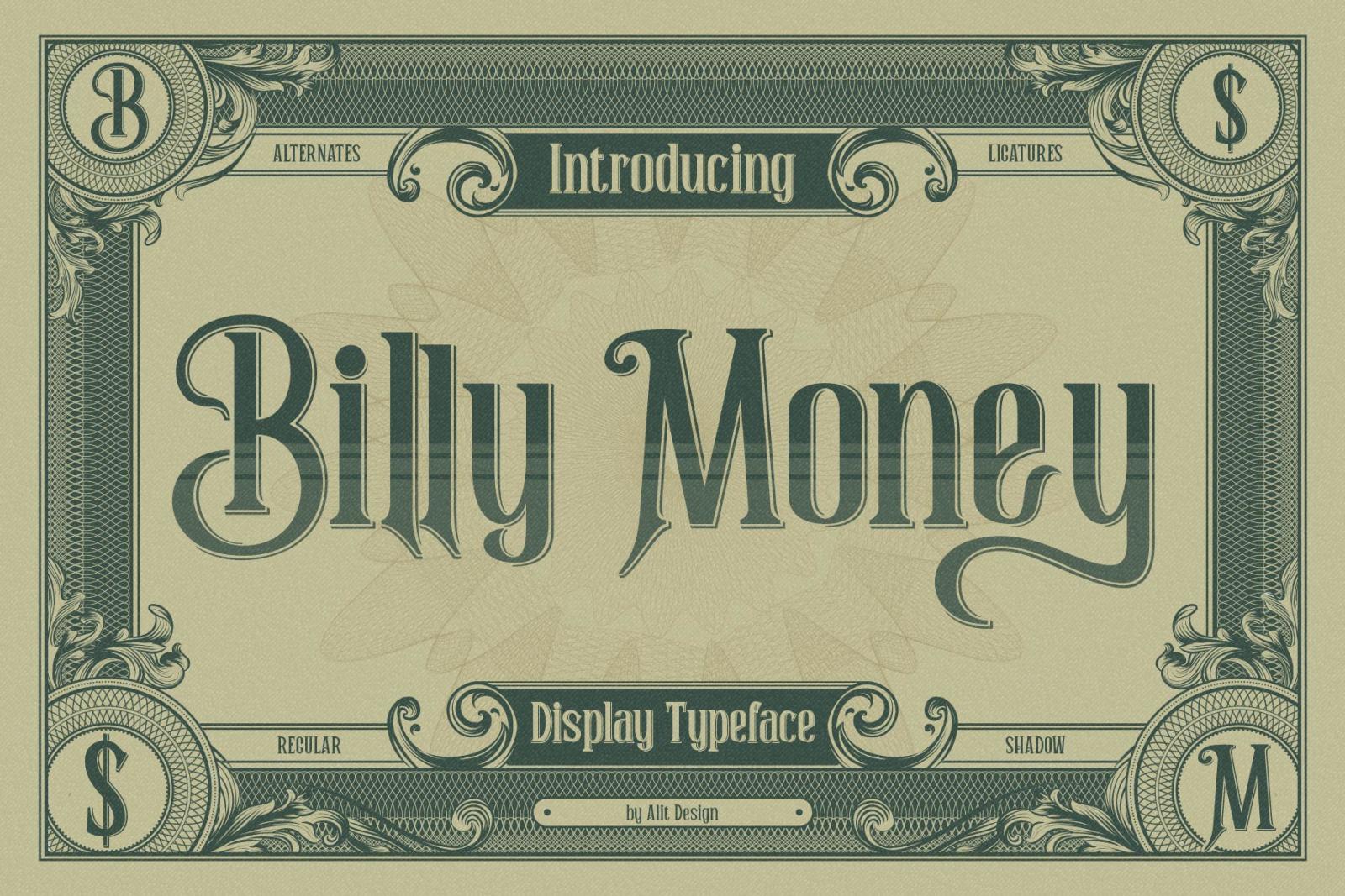 Billy Money Font