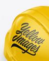 Glossy Hard Hat Mockup