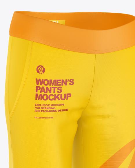 Women's Pants Mockup - Half Side View