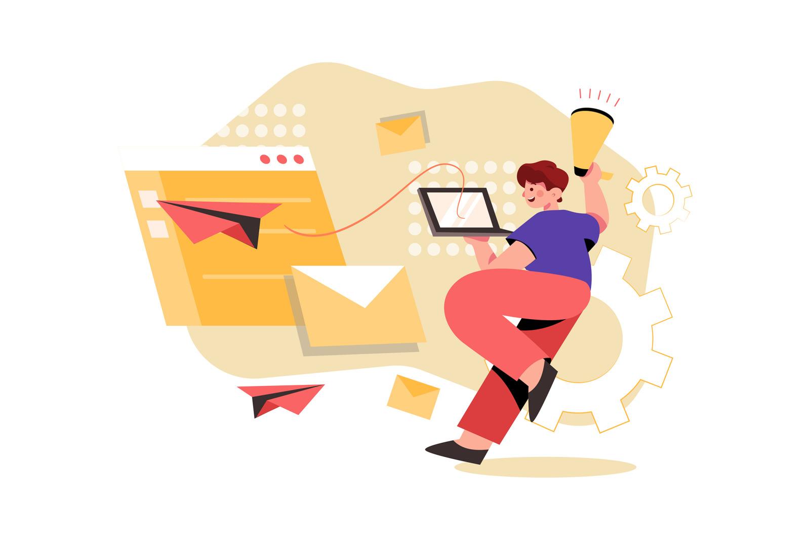 M337_Email Marketing Illustration Pack